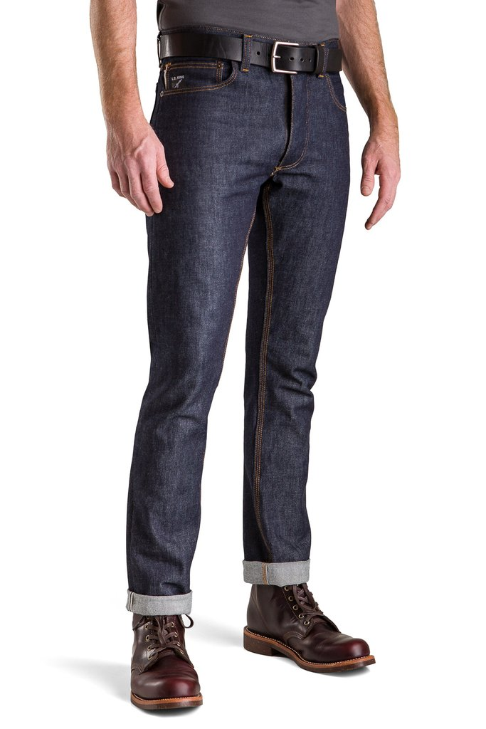 LC KING Cone White Oak Slim Tappered RAW Jeans